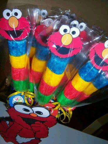 Elmo marshmallows pops