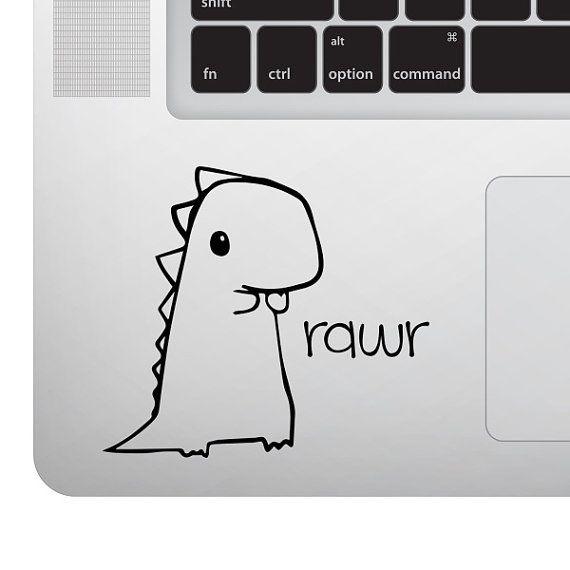 Cute Baby Dinosaur Rawr Vinyl Decal Sticker