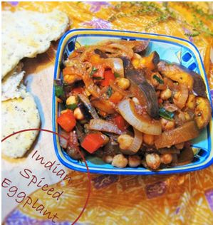Indian Spiced Eggplant - Easy, warm, low in fat and great for you!