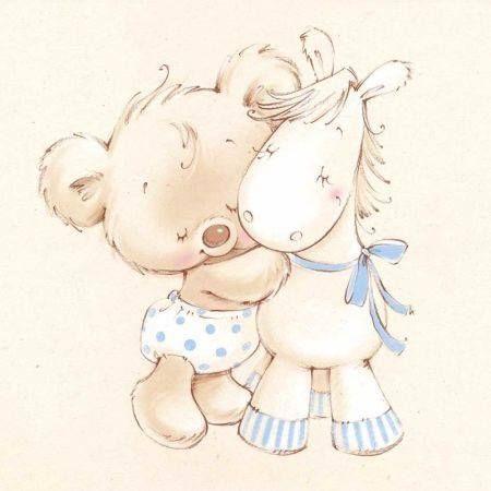 Ursinho com Cavalinho se Abraçando