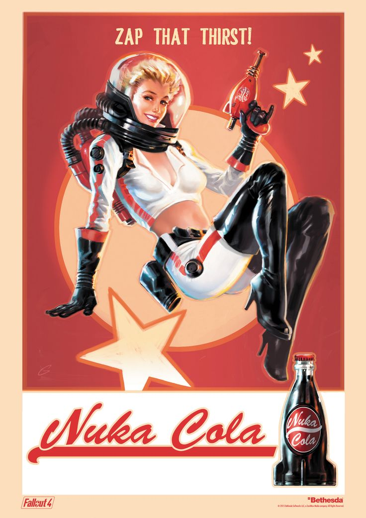 Fallout 4 Nuka Cola Zap That Thirst Poster - Imgur