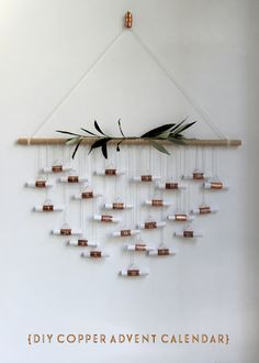 DIY Copper Advent Calendar | Growing Spaces