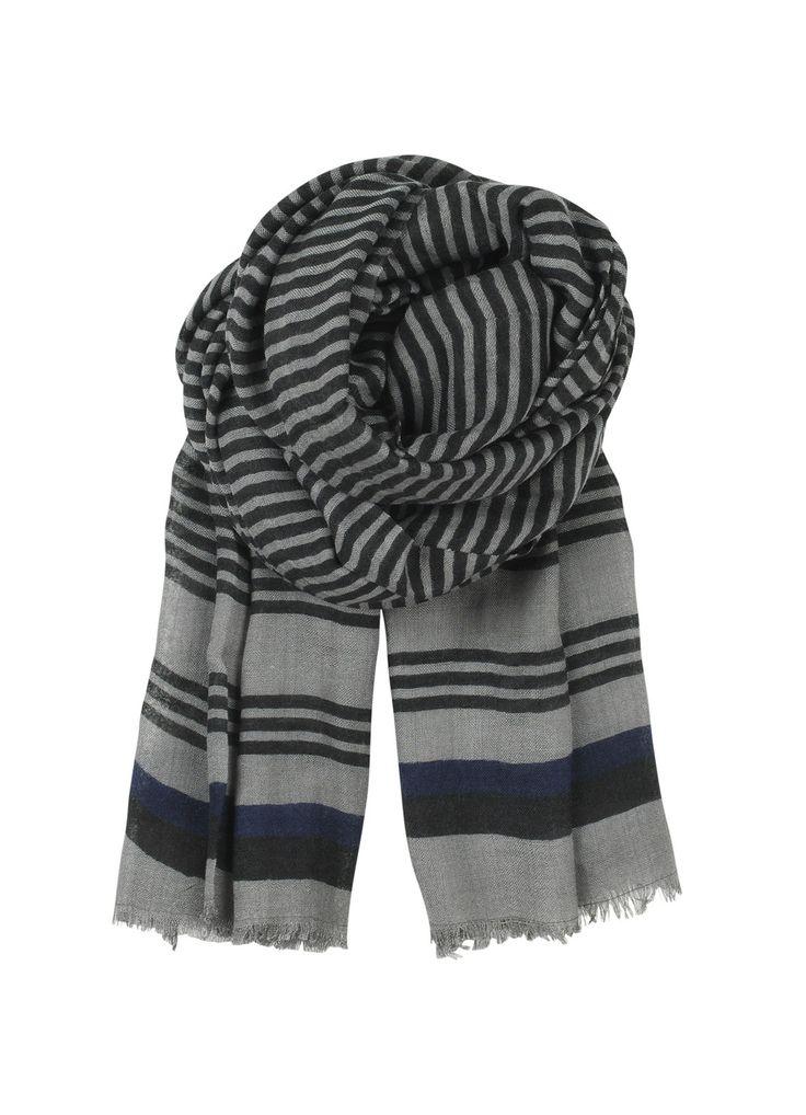 Wooly Stripes Scarf - Black | Nomadista.co HANDMADE, SCANDINAVIAN. ethical fashion, fashion for good, responsible fashion, ecofashion, sustainable fashion