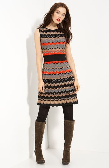 Missoni Metallic Zigzag Stripe Dress #chevron #nordstroms