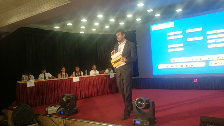 #quizmaster Gautam Bose conducting the glittering Quiz event at Mumbai. The event was participated by all top Quiz teams from Mumbai.