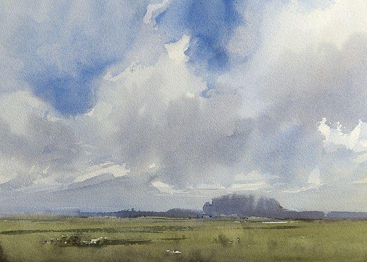 Arie Jekel | Last summer day | Watercolor