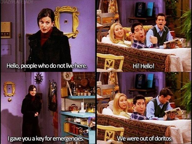 My dream life ;)  - Friends - Monica Geller, Ross Geller, Chandler Muriel Bing, Phoebe Buffay - quote - screencap