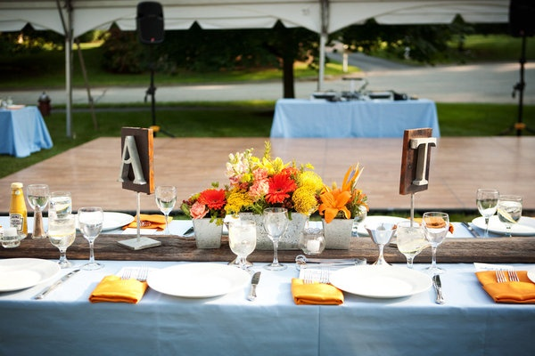 Tangerine / Light Blue / Bakers' Best Catering / The Wiebner's Photography