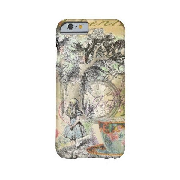 Cheshire Cat Alice in Wonderland Barely There Iphone 6 Case (£39) ❤ liked on Polyvore featuring accessories and tech accessories