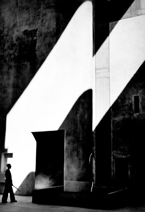 High Court of Justice, Chandigarh, designed by Le Corbusier, photographed by Lucien Herve, 1955