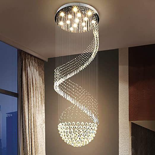 No Logo Ceiling Pendant Light Crystal Chandelier Lighting Round