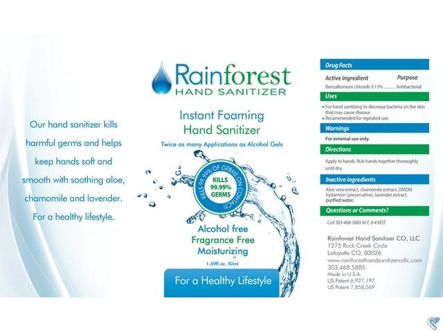 Rainforest Hand Sanitizer Label Rainforest Hand Sanitizer Label