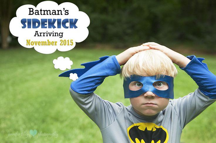 Big Brother Baby Announcement. Batman. Sidekicks. Superheros for life. Jennifer Tilley Photography