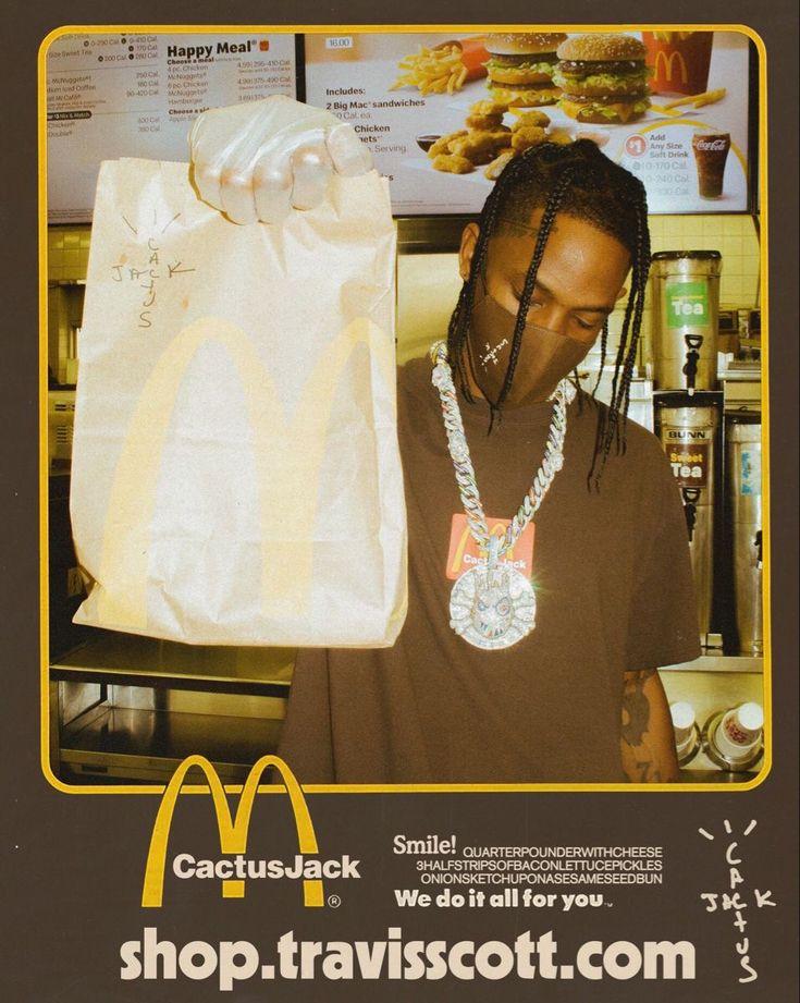 Cactus Jack x McDonald's 🌵🍔 in 2020 Travis scott, Travis