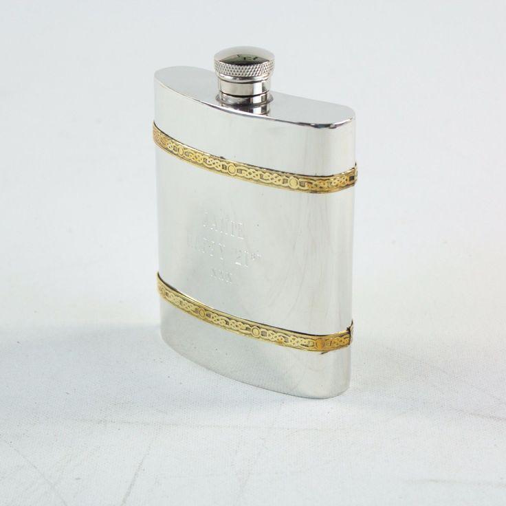 """Personalised Hip Flask """"Jamie Happy 21st XXX"""" - https://lostparcels.com/parcel-company-3/uncategorized/personalised-hip-flask-jamie-happy-21st-xxx/"""