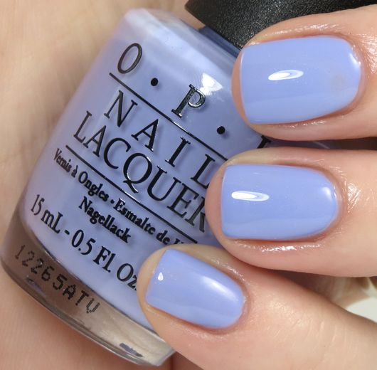 OPI - You're Such a BudaPest is a lilac-periwinkle shade with a very faint amount of shimmer. The formula on this shade seemed a little bit thinner than 10 of the others, so I needed a thin third coat for complete coverage. #opi #purple #nailpolish