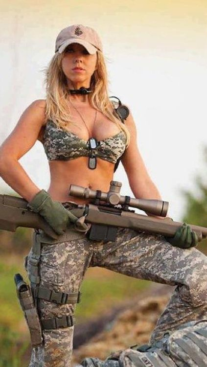 Apologise, military naked army girl holding a gun