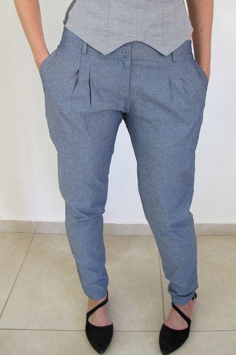 Gefaltete Hosen, Damen Hosen, Hosen, Reiten Anzug Hosen, Jeans Hosen, Damenmode, niedrige Taille Hose