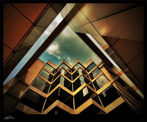 Architectural Photography - A view through the buildings