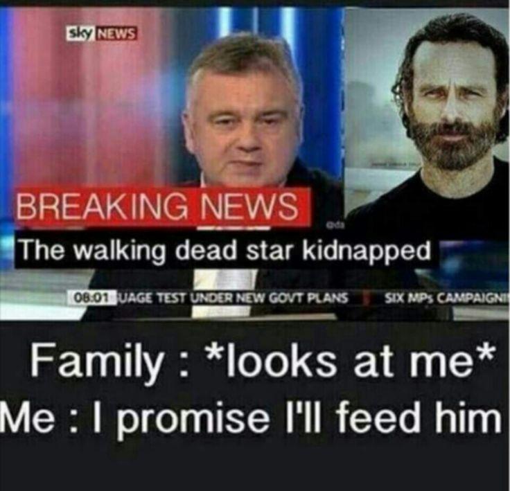The Walking Dead #TWD LOL #AndrewLincoln #MrRickGrimes #Grrr