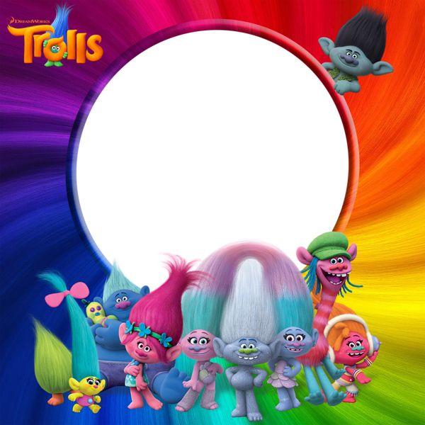 Trolls PNG Transparent Frame