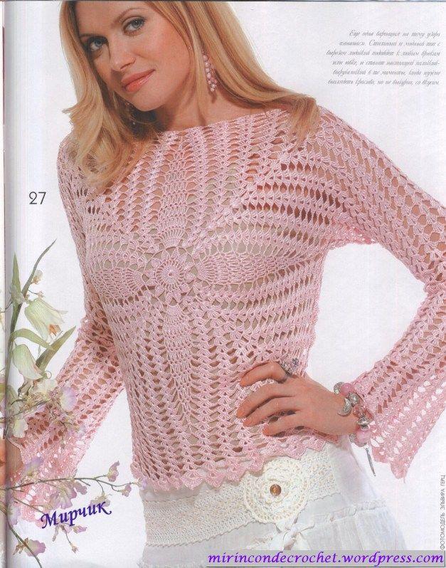 Blusa de seda | Mi Rincon de Crochet