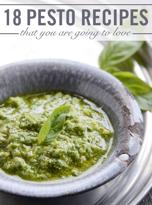 Basil Parmesan Pesto. This easy pesto recipe goes big on the Parm. And that's cool, because cheese is always a good thing.
