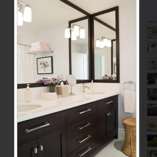 Classic bathroom- dark + light