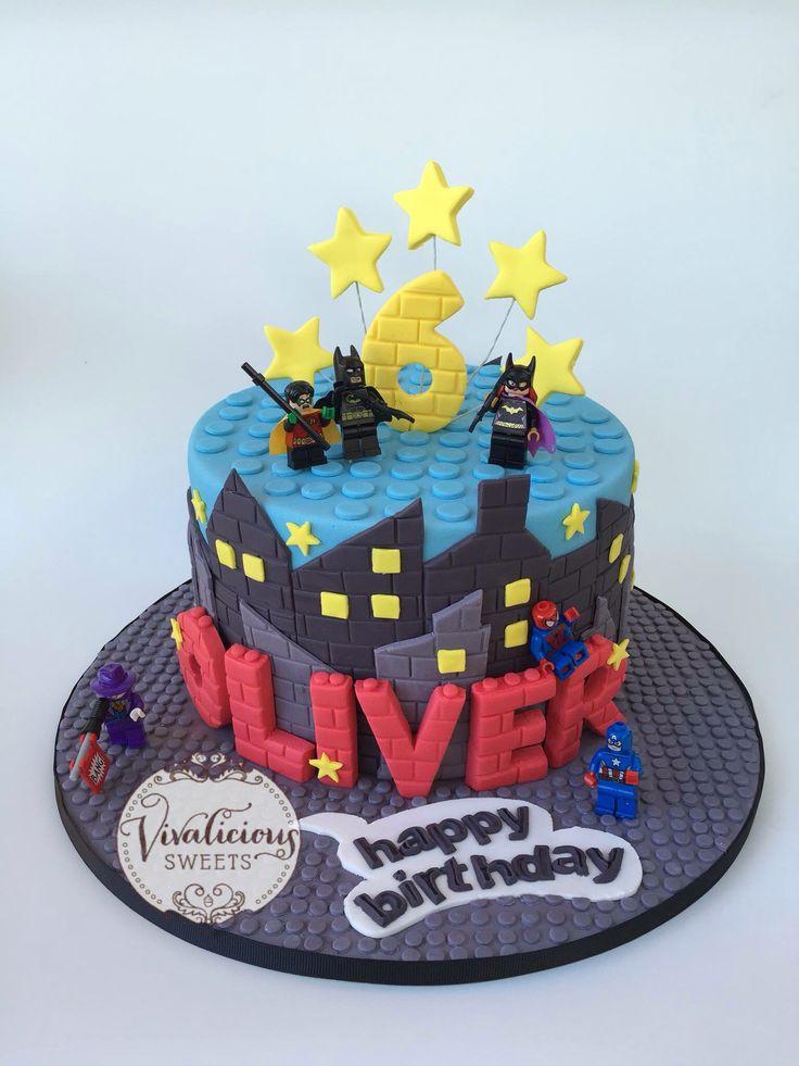Lego superhero cake