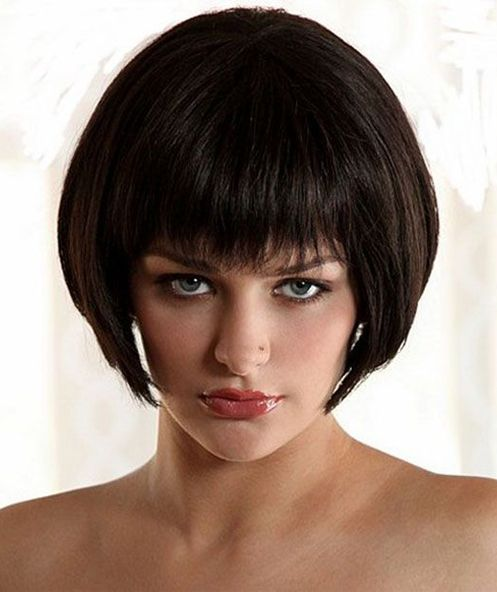 Super Short Bob Haircuts 2015 with Full Fringes