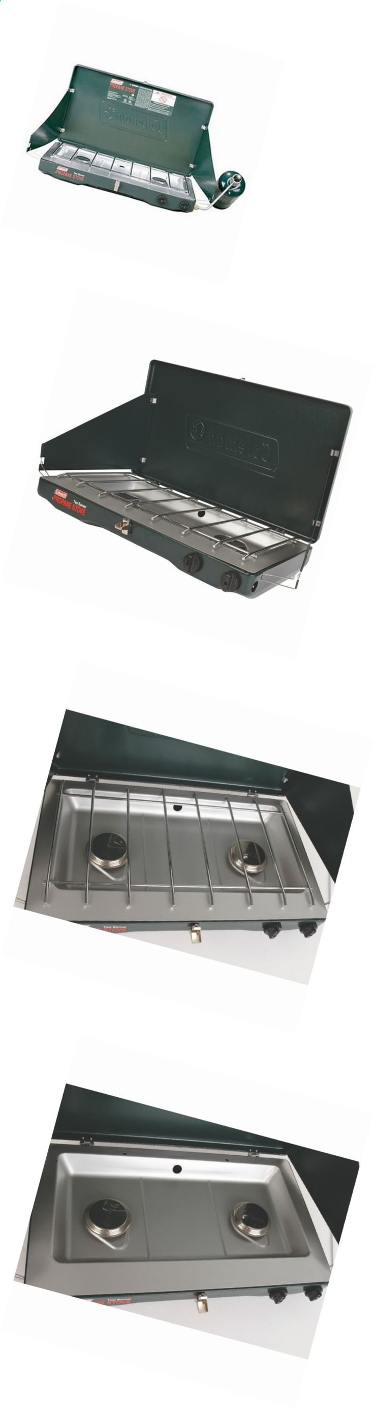 Camping stoves 181386 2 burner propane stove coleman matchlight 10000 btu camping adjustable new
