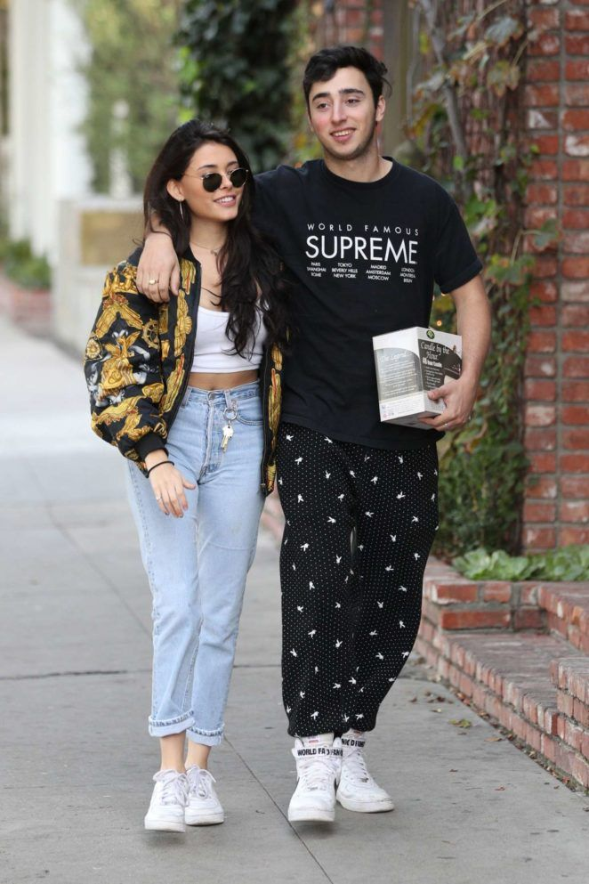 Madison Beer shopping with her new boyfriend Zack Bia in West Hollywood