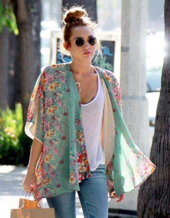 Japanese Floral Kimono Jacket