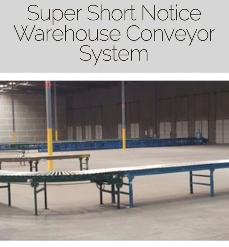 SUPER SHORT NOTICE Conveyor System CalAuctions.com Super Short Notice – New Tenant Does not wanted and it MUST GO! Is a U shaped Motorized Conveyor System, 200 Foot Straight Run, Curved Shaped is about 350 Feet, Control Unit, Easy Removal Access. Must be Removed by Monday April 3rd....