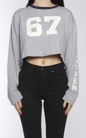830440bf Vintage Polo Crop Longsleeve Tee | Phys Ed- Sporty Chic Spring 19 ...
