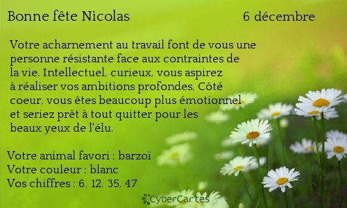 Nicolas http://www.prenoms.com/v2/services-prenom/signification-prenom.asp ♥ Voyance Privée au 04.93.44.68.72 www.chantalemedium.com Avec le médium de votre choix au 01.72.76.09.38 (Offre Spéciale 10€/10min) FORUM VOYANCE GRATUITE  08.99.19.97.19   Audiotel France DOM-TOM 08.92.68.23.88  http://www.chantalemedium.com/horoscope/  Vos chiffres de chance http://www.chantalemedium.com/horoscope-du-mois-et-num%C3%A9ros-de-chance/ Facebook PRO Chantale Pure Médium Azur Astro Voyance Conseils…