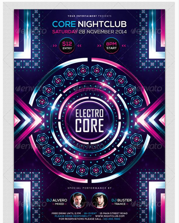 24 best images about Electro Night Flyer Template – Electro Flyer