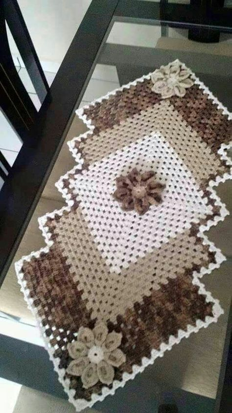 Granny Square Runner Pattern Diagram And Inspiration Crochet