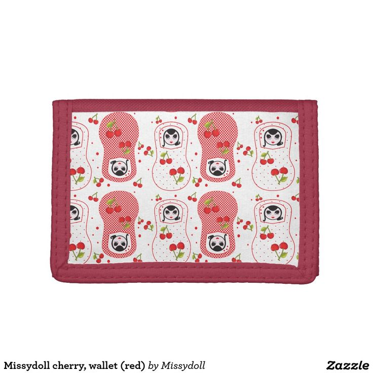 Missydoll cherry, wallet (red)