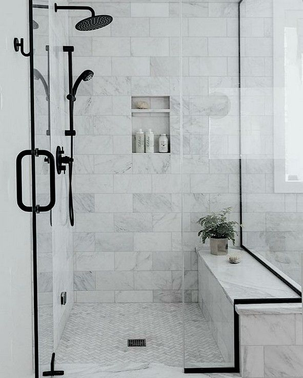 15 Beautiful Shower Tile Ideas For Your Bathroom All About Home Decor In 2020 Bathroom Remodel Designs Bathroom Design Black Bathroom Design Inspiration
