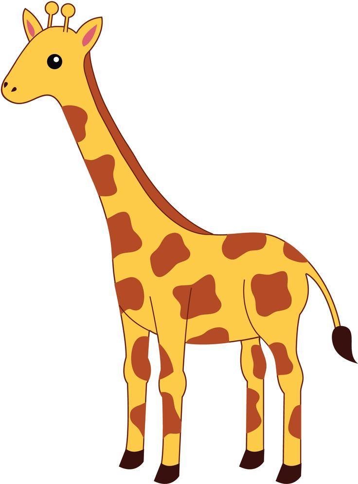 Simple giraffe outline cute giraffe clipart applique ...