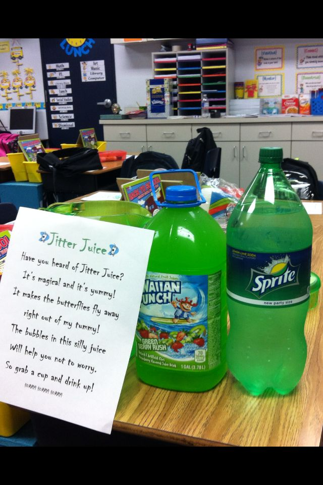 Jitter Juice- read first day jitters too! Can't wait to try this!