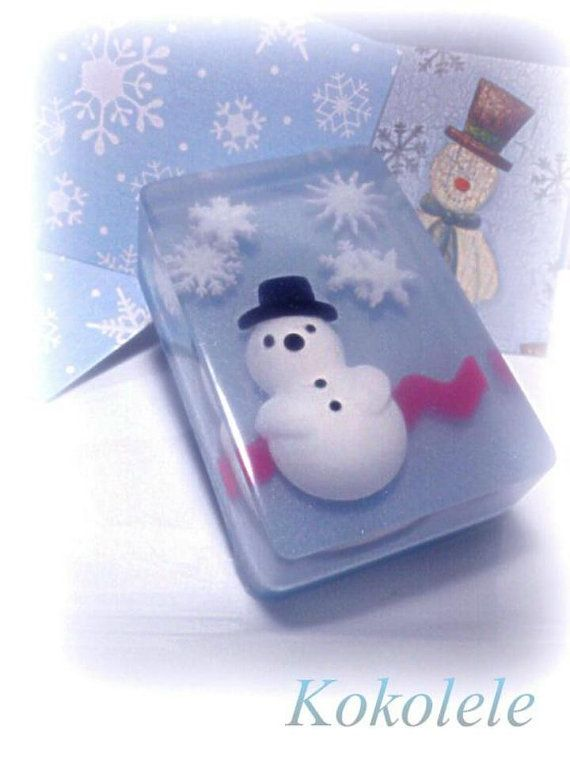 Snowman Soap by Kokolele on Etsy