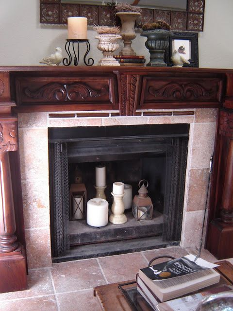 Heart And Home How To Lighten Up An Empty Fireplace At