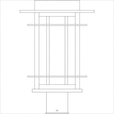 """Arroyo Craftsman OPP Oak Park Outdoor Post Lantern by Arroyo Craftsman. $430.00. Arroyo Craftsman OPP Features: -Oak Park collection. -Available in several finishes. -Available in several shade colors. -UL listed. -Suitable in wet location. Specifications: -Accommodates: 1 x 100W medium incandescent bulb. -Available sizes:. -12"""" Overall dimensions: 12"""" H x 7"""" W. -13.5"""" Overall dimensions: 13.5"""" H x 8.5"""" W. -16"""" Overall dimensions: 16"""" H x 10.5"""" W. Note: Arroyo C..."""