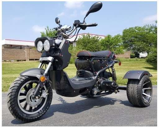 Check out this 2017 Boom 50cc Trike Mean Dogg II Scooter ...