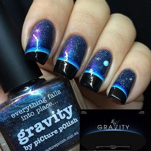 Best 25 moon nails ideas on pinterest pretty nails matt nails over the moon nails trends style prinsesfo Image collections