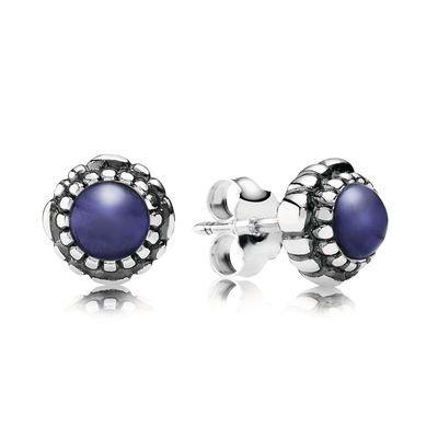 Lapis Lazuli September Birthstone Earrings - PANDORA