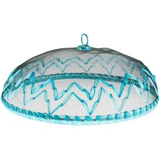 Turquoise Chevron Wire Mesh Food Cover