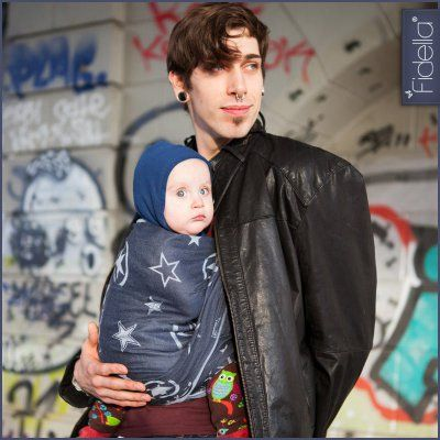 Fidella babywrap -Outer Space -blue-